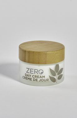 ZERO by Skin Academy Day Cream in glass pack with bamboo lid
