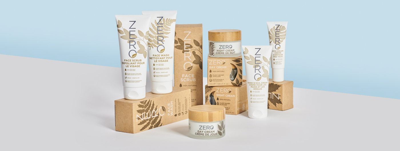 Image of the full Zero skincare range